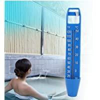 Cuque 【Regalo de Navidad】 Termómetro Flotante para Piscina, termómetro de Agua con Cuerda, termómetro Flotante para…