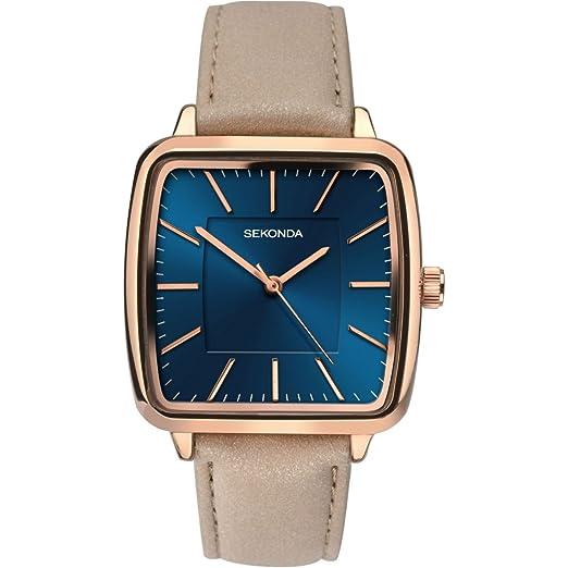 7af7dcccdab3 SEKONDA Womens Analogue Classic Quartz Watch with PU Strap 2449.27: Amazon. co.uk: Watches