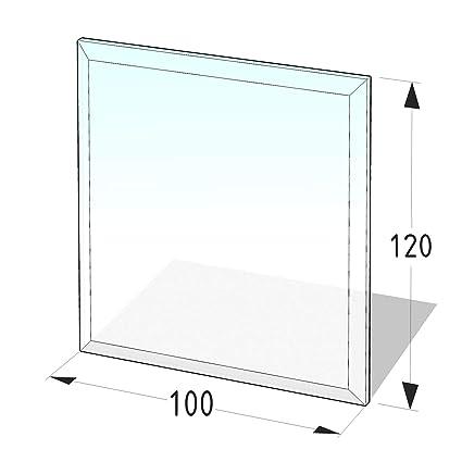 Kamin Glasplatte 8 mm Rechteck 1 mit Facette