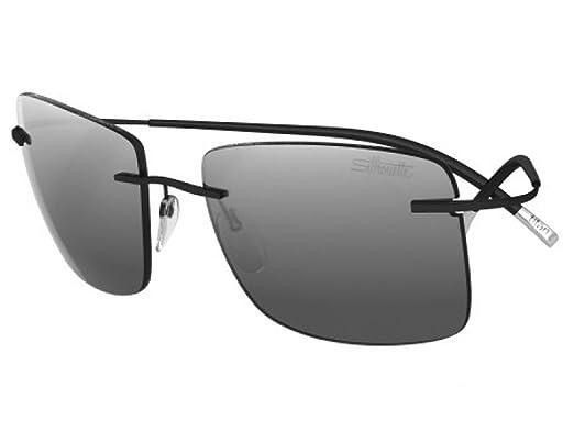 9c68569aeae Amazon.com  Silhouette TMA ICON Sunglasses Titanium Collection Best seller (matte  black   silver mirror lens