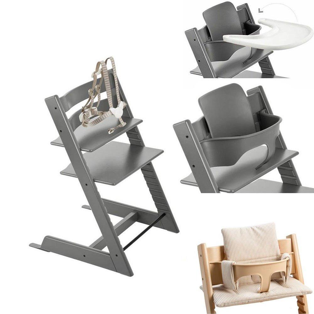Amazon.com: Stokke Tripp Trapp silla W Baby Set, Stokke ...