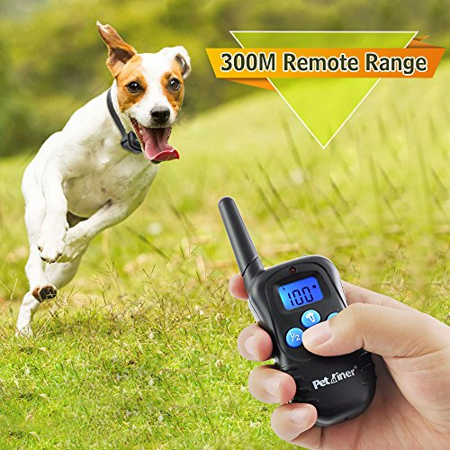 Petrainer-PET998DBB2-100-Waterproof-and-Rechargeable-Dog-Shock-Collar-330-yd-Remote-Dog-Training-Collar-with-BeepVibraShock-Electric-E-collar