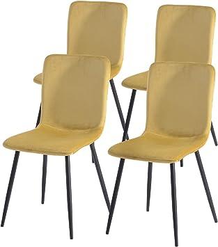 Lot de 4 chaises de salle à manger de style scandinave avec