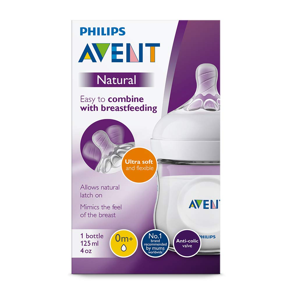 Philips Avent SCF031//17 Biberon Natural 125 ml Rose 0 Mois+