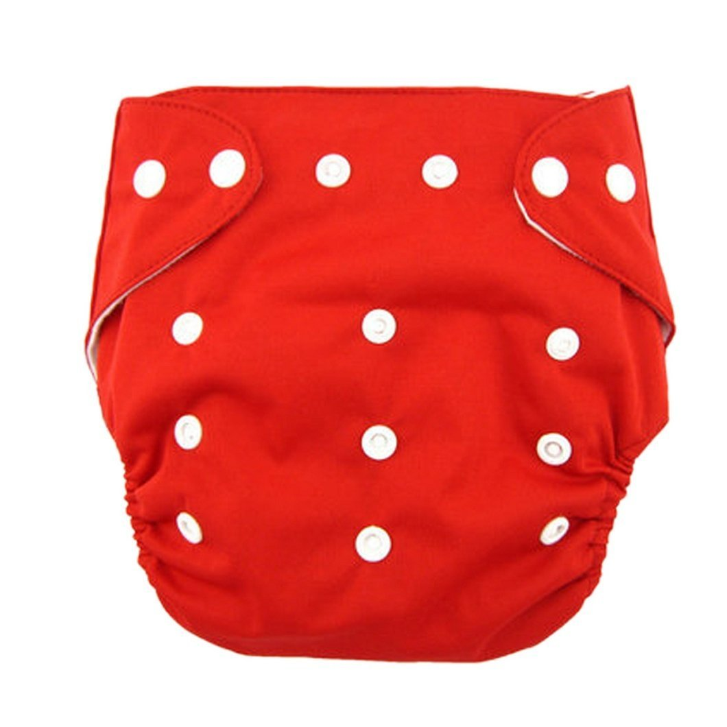 dzt1968 1pc Best Seller Cloth Nappy Reusable Washable Baby Cloth Nappies Diapers (Red)