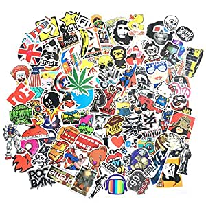 DOLAIMI (200 Pack) Random Style Waterproofed Cool Vinyl Stickers Car Bumper Bike Skateboard Travel Suitcase Luggage Phone Laptop Decals Pack Bumper Stickers Fashion Cute Stickers Collection Kit