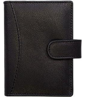 Branded Leather Credit Card Holder Plastic Inserts Press Stud Closure Golunski