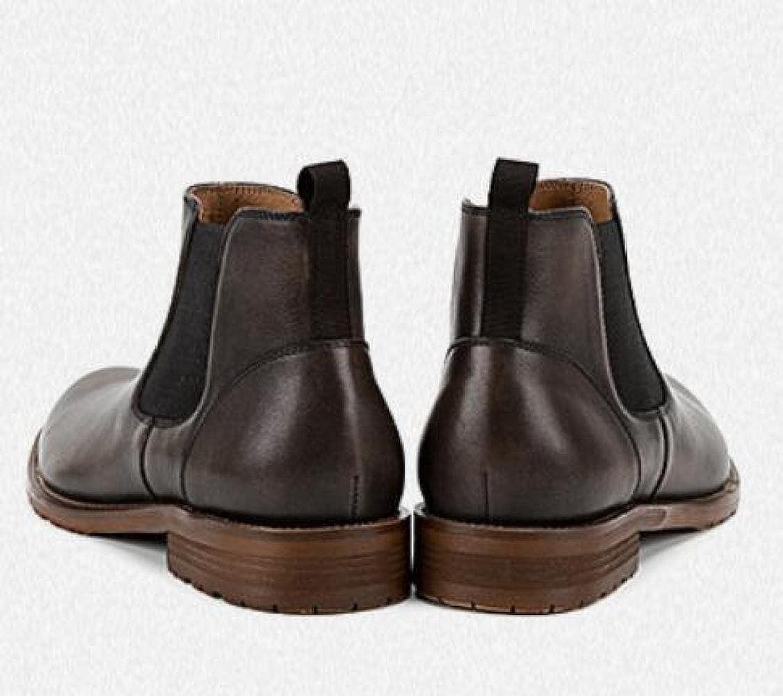 GTYMFH Herbst High High High Top Stiefelies Herrenstiefel Chelsea-Stiefel Echtes Leder Lederstiefel 744404