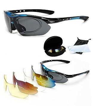Wondder Gafas de Ciclismo 5 Lente de la Bicicleta Ciclismo Gafas de Sol Deportes al Aire Libre Gafas de Montar Bicicleta Ciclismo Gafas UV400 con ...