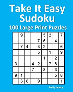 Easy Sudoku Puzzle Book For Adults 200 Large Print Puzzles Kat