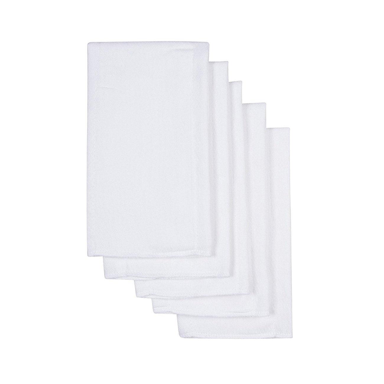 smtf bebé pañales 3capas Prefold Pañales de tela, color blanco, Pack de 10