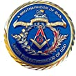 "2"" Masonic Coin For Freemasons Commemorative 3D Design With case"