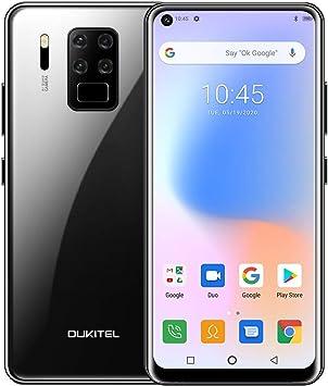 OUKITEL C18 Pro Teléfono Móvil Dual 4G, Cámara 16MP + 8MP + 5MP + 2MP, 6.55 Full HD Helio P25 Octa Core 4GB+64GB Android 9 Smartphone, Batería 4000mAh, Face ID+Fingerprint(Negro): Amazon.es: Electrónica