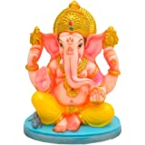 PAPILON Handmade Gold Plated Siddh Ganesh Decorative Idol(Marble,Multicolour)