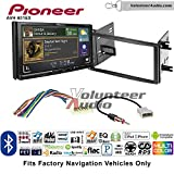 Volunteer Audio Pioneer AVH-601EX Double Din Radio Install Kit with CD/DVD Player Bluetooth USB/AUX Fits 2009-2013 Subaru Forester, 2008-2011 Subaru Impreza