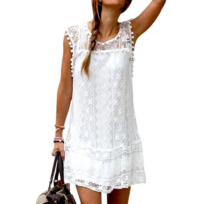 Vestido blanco para coctel