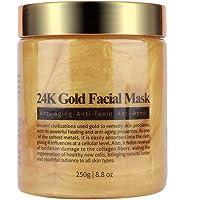 Gold Face Mask,Gold Collagen Facial Mask Blackhead Exfoliator Anti-aging Moisturizing Hydrating Skin Care Face…