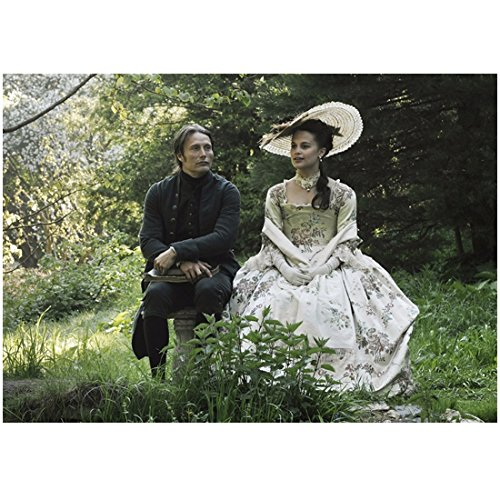 Johanns Garden - A Royal Affair Mikkelsen as Johann and Alicia Vikander as Caroline Sitting in Garden 8 x 10 inch photo
