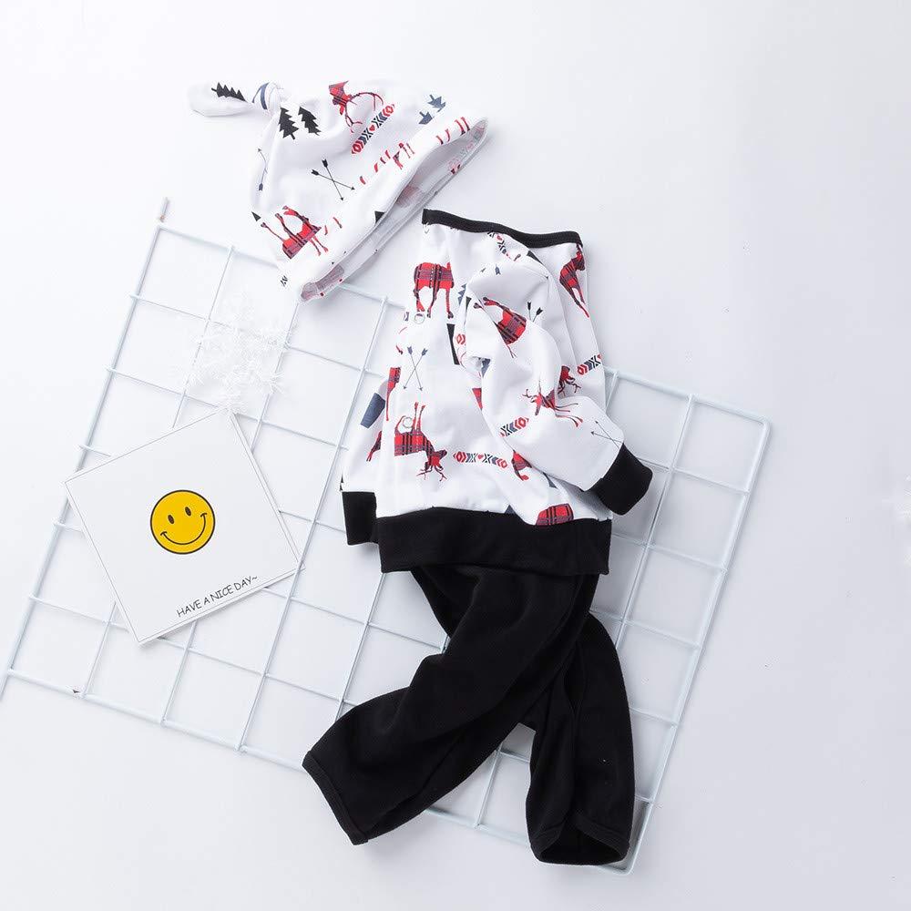 Jarsh Newborn Baby Boys Girls Christmas Deer Print Romper Jumpsuit Outfits Set