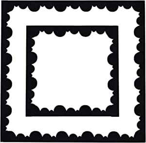 15 Pieces Black Bulletin Board Borders Scalloped Border Trim Felt Fabric Decorative Borders for Bulletin Boards, 49 Feet Total Length