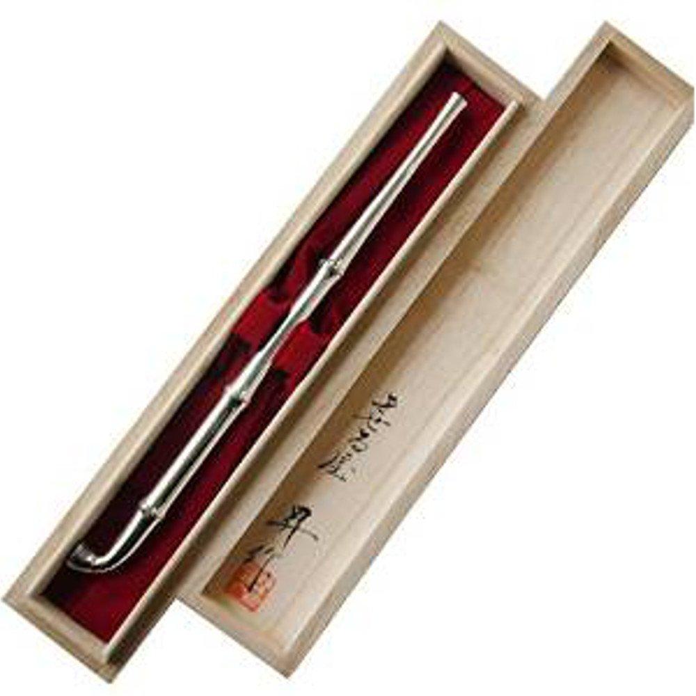 [煙管マイスター 飯塚昇作] 銀竹節延三段節 200年の歴史を持つ伝統の手作り煙管キセル きせる B01HTL4IIC