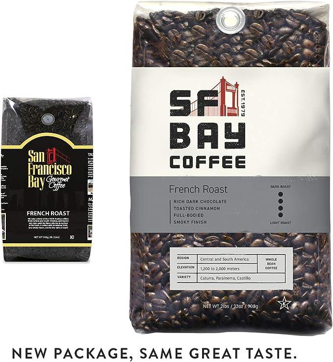 San Francisco Bay Coffee French Roast Whole Bean 908 Grams 9 Kg Dark Roast