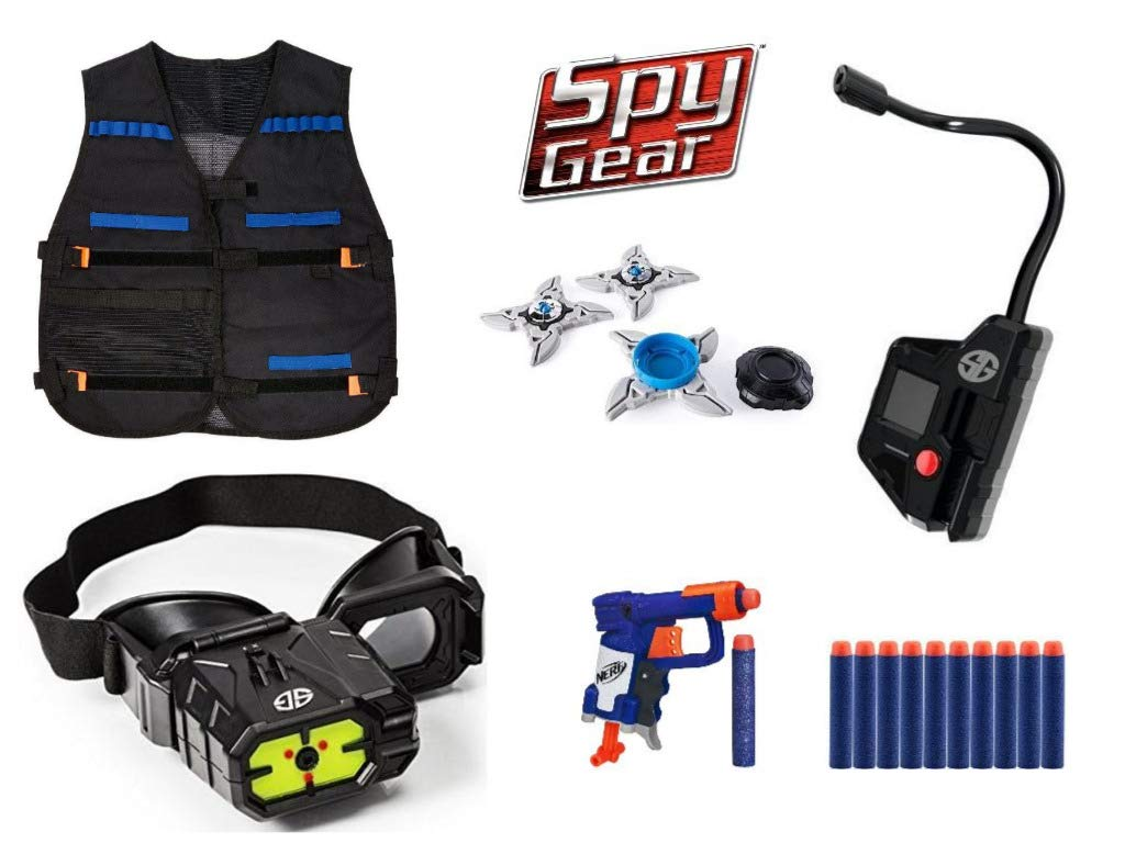 Spy Gear Gamma Mission Kit Extreme Secret Agent Tool Set Bundle, Night Vision Goggles, Tactical Vest, Spy Blaster, Camera by Spy Gear Mission