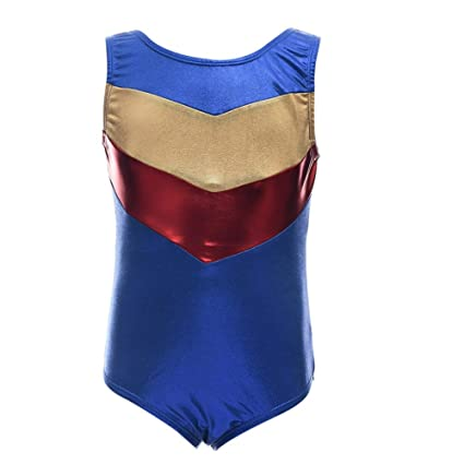 440d3ccdeac Amazon.com : Shouhengda Little Girls One-piece Shining Double-V Gymnastics  Athletic Leotard : Sports & Outdoors