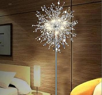 GUTOU LDD Lampe Sur Pied De Salon.Lampadaire Cristal Salon Stand Lampadaire  Moderne Fleur