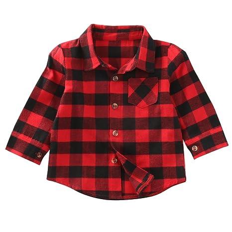 eb2720387c4fe 子供服 男の子 女の子 シャツ カーディガン ブラウス 秋冬物 長袖 チェック柄 ポケット 可愛い 綿 ベビー服