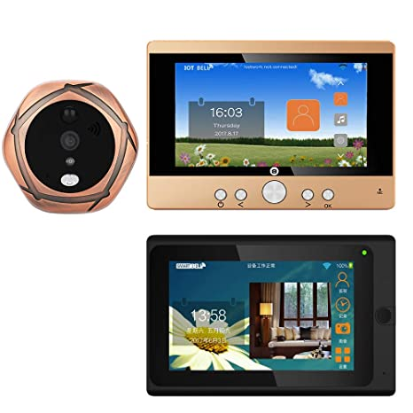 Amazon com: MAOTEWANG 720P WiFi Wireless Digital Peephole