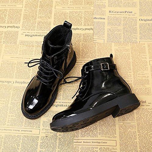 b27c90dcfaf HDYS Zapatos de Mujer Charol Brillante Estudiante Martín Planas Keep Warm  Botas