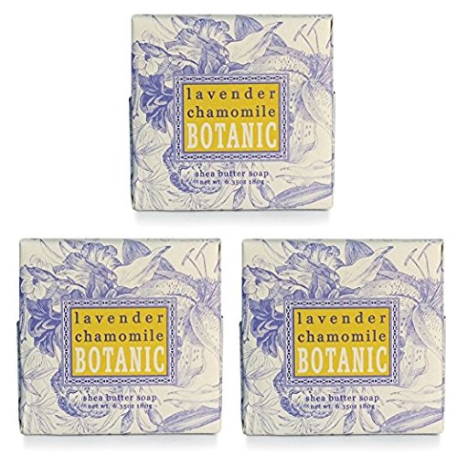 Greenwich Bay LAVENDER CHAMOMILE Spa Soap, Enriched with essential oils of Lavender and Chamomile, Shea Butter, and Cocoa Butter. No Parabens, No Sulf…