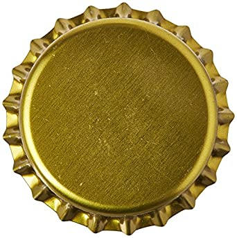 Home Brew Ohio PI-0V33-JSZX Gold Crown Bottle Caps (Pack of 144)