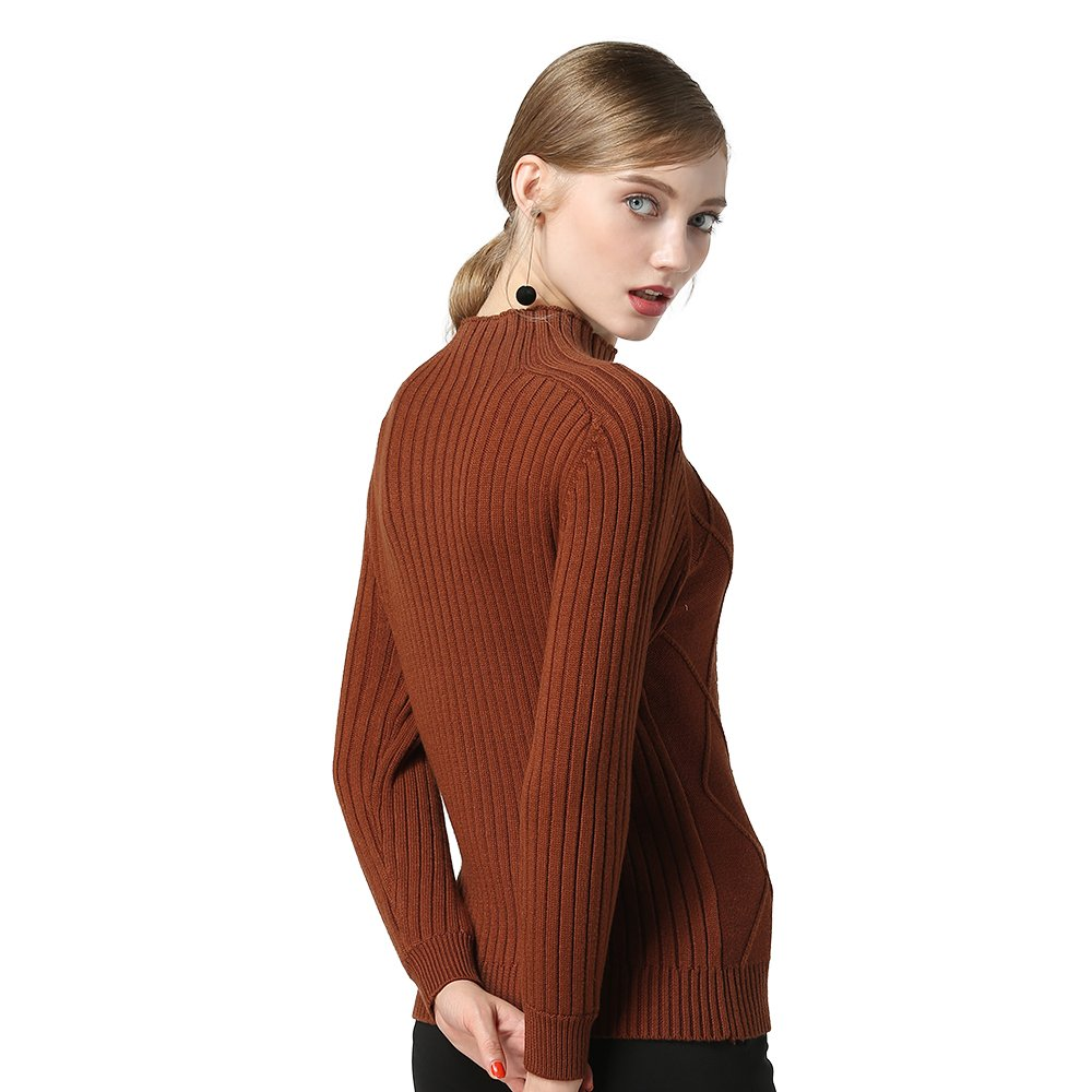 PASOATAQUES Sweaters High Collar Slim-Fit Long Sleeve