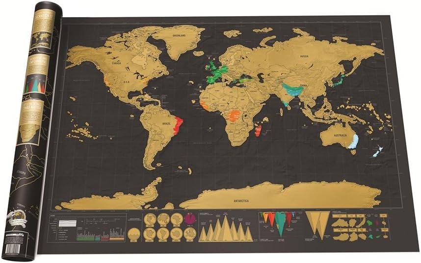 Mapa del mundo SHAWE. Para rascar con moneda: Amazon.es: Coche y moto