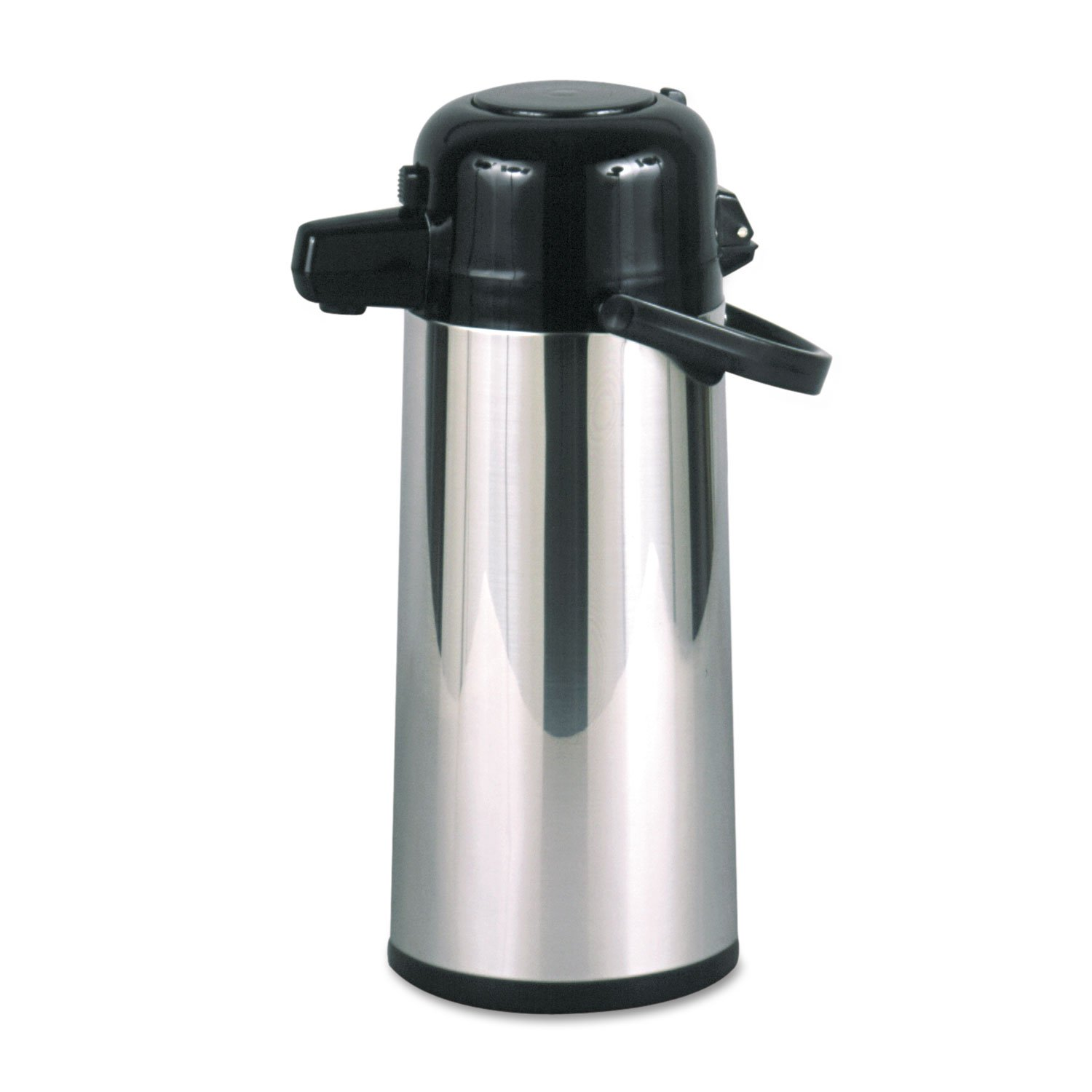 Hormel PAE22B Commercial Grade 2.2L Airpot, w/Push-Button Pump, Stainless Steel/Black