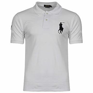 Ralph Lauren - Polo - Col Chemise Classique - Homme - Blanc - XXL ... a765feb1175