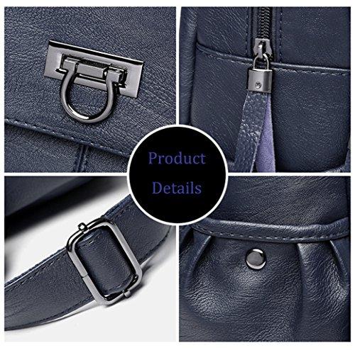 Ladies Handbag FIGROL Mini School Lovely Backpack 9010blue Fashion Leather and Stylish Women for Girl rqqHgvwXa
