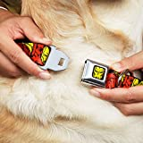 Iron Man Marvel Comics Dog Collar IMA Face Red Yellow - The Invincible Pet Collar