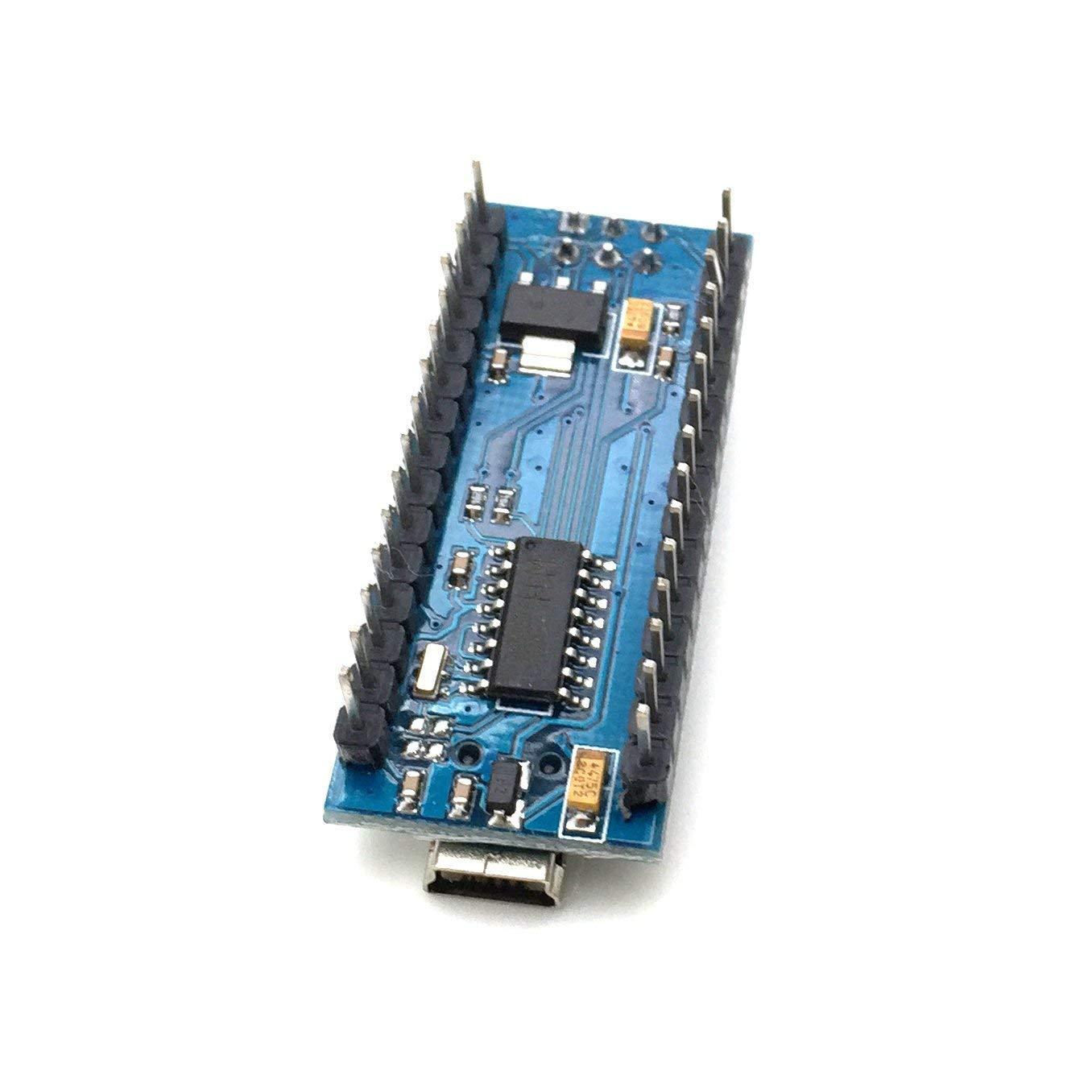 AptoFun Nano V3.0 con Scheda di Sviluppo Chip Org.ATmega328P Compatibile con Arduino FT232RL con Cavo USB 2 Blue