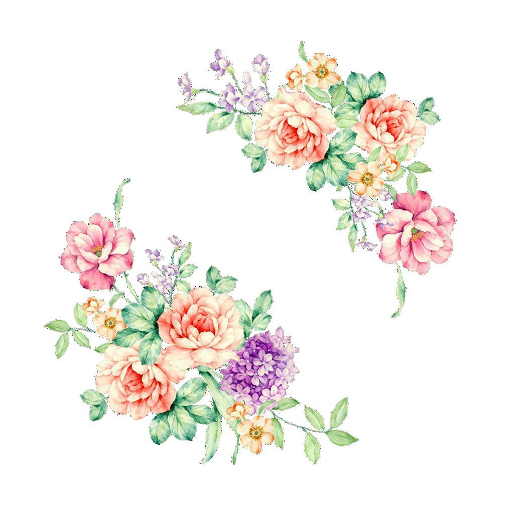 Zeshlla New Very Essential Fashion Unique Colorful Flowers 3D Wall Stickers Beautiful Peony Fridge Stickers Toilet Decorat