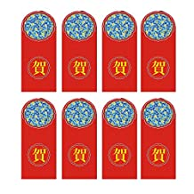 50PCS Chinese Red Envelopes New Year Red Envelopes Lucky Money Envelope Festival Money Packets (He, 3.5x6.7 in)