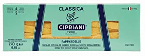 Cipriani Food Extra Thin Egg Pasta, Pappardelle, 250 Gram (Pack of 2)