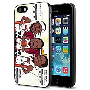 Miami Heat Big 3 - James Wade Bosh cartoon , Cool iphone 6 4.7 Smartphone Case Cover Collector iphone 6 4.7 Black