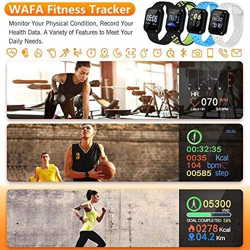 WAFA Fitness Tracker with Heart Rate Blood Pressure Monitor, Waterproof Fitness Watch, Bluetooth Smart Watch with Sleep Sports Data Monitor GPS Activity Tracker Pedometer Watch for Kids Women Men 2