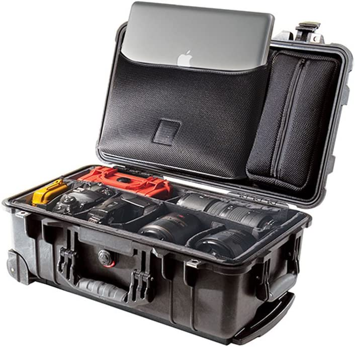 Pelican 1510 Laptop Overnight Case With Padded Dividers Black