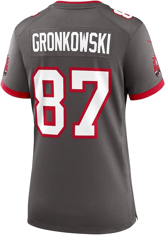 Quick-Drying Sportswear Basketball Training Shirt POAE Womens Tampa Bay Buccaneers Rob Gronkowski Red American Football Jersey
