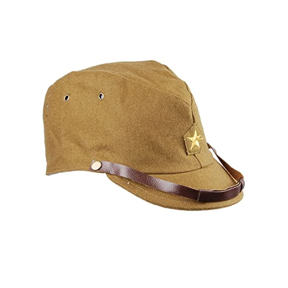0ea3fbe60f0 Amazon.com  Heerpoint Reproduction WWII WW2 Japanese army IJA Officer Field  Hat Cap L  Clothing