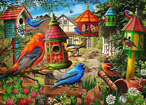 Vermont Christmas Company Birdhouse Garden Jigsaw Puzzle 1000 Piece